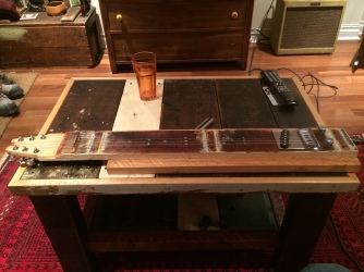 scrap wood electric lap steel