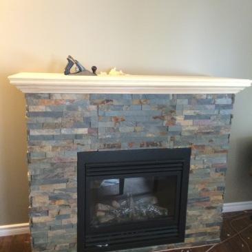 slate fire place