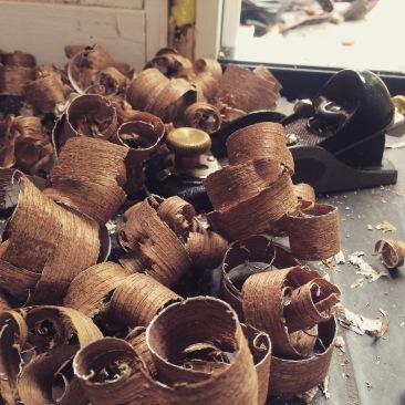 mahogany shavings