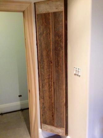 barnboard bath cabinet