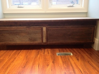 barnboard window seat
