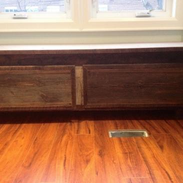 barnboard window seat