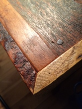 barnboard side table