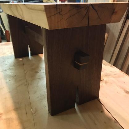 ash/walnut stool